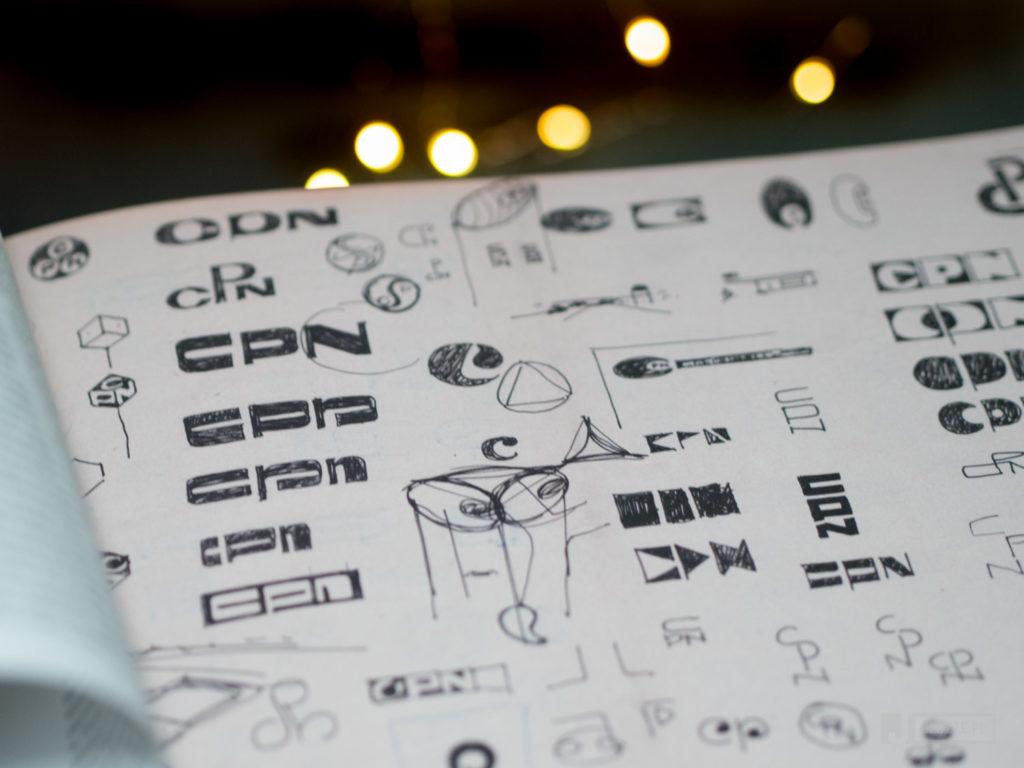 szkice logotypu